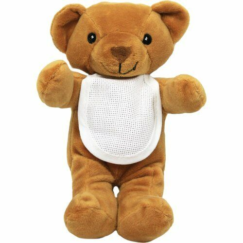 CHARLES CRAFT PLUSH PET BEAR NWT WITH 18 COUNT BIB FREE DMC