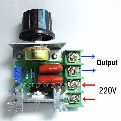 2000w Ac 50-220v 25a Adjustable Motor Speed Controller Voltage Regulator Pwm Hot