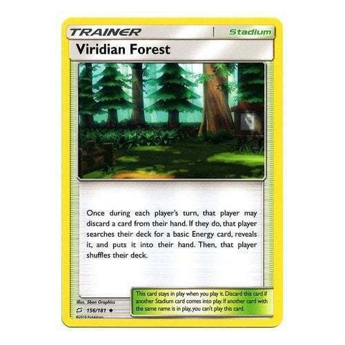 Viridian Forest 156/181 Trainer/Stadium Sun & Moon TEAM UP Single or Playset x4