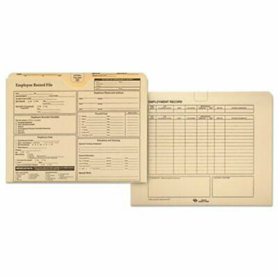 Quality Park Employee Record Folder Top Tab Letter Manila 20pack Qua69998