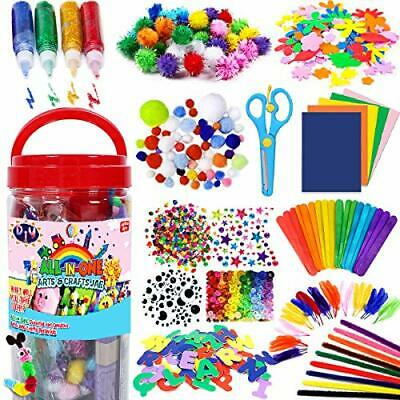FunzBo Arts and Crafts Supplies for Kids Craft Art Supply Kit for Toddlers