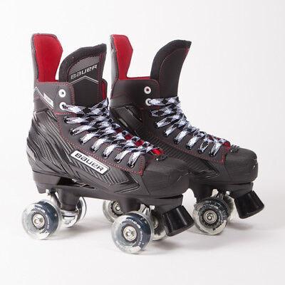 Bauer Quad Roller Skates - NS - 2018 Model - Light up/Flashing Wheels ()