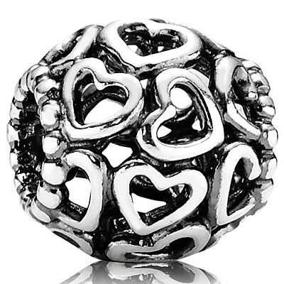PANDORA Charm Element 790964 Herzen Silber Bead