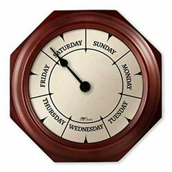 Day Clock Classic Day Clock Day of the Week Fun Retirement Gift Mahogany Wall