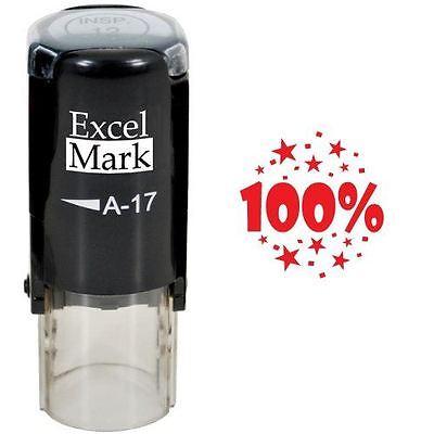 Excelmark 100 Round Self Inking Teacher Stamp A17 Red Ink