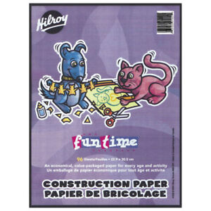 "Hilroy Funtime 96 pg. 8"" x 11"" construction paper book + more-$5"