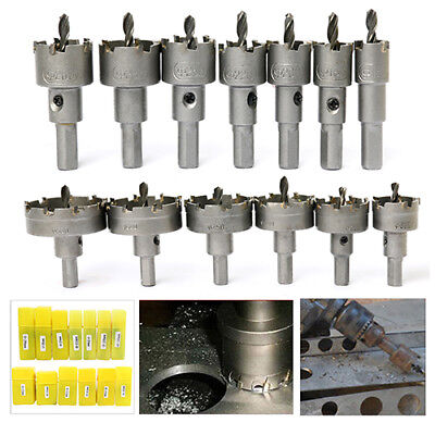 - 13Pcs Carbide Tip TCT Drill Bit Hole Saw Set Stainless Steel Metal Alloy Cutter