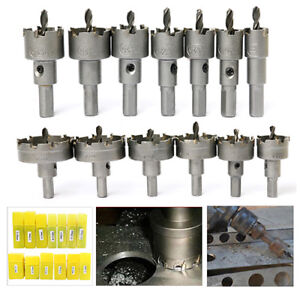 13Pcs Carbide Tip TCT Drill Bit Hole Saw Set Stainless Steel Metal Alloy Cutter