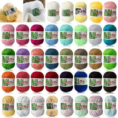 - New 100% Bamboo Cotton Warm Soft Natural Knitting Crochet Knitwear Wool Yarn 50g