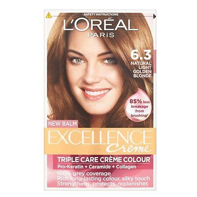 Triple Care Creme (L'Oréal Excellence Triple Care Crème Colour 6.3 Natural Light Golden Brown)