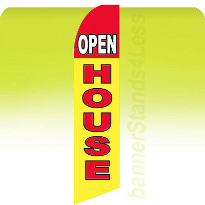 Open House Swooper Flag Feather Flutter Banner Sign 11.5 Tall - Yb