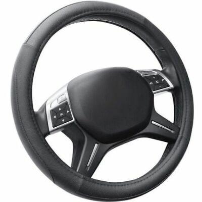 Coprivolante Copri Volante Auto Nero 37-39cm Con Presa Comfort Pelle Microfibra
