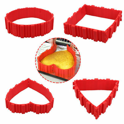 1 Set / 4 PCS Silicone Magic Mold Bake Cake Snake Nonstick Baking Tray Tin