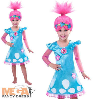 Trolls Princess Poppy Girls Fancy Dress TV Film Cartoon Character Kids Costume  - Cartoon Character Costumes For Girls