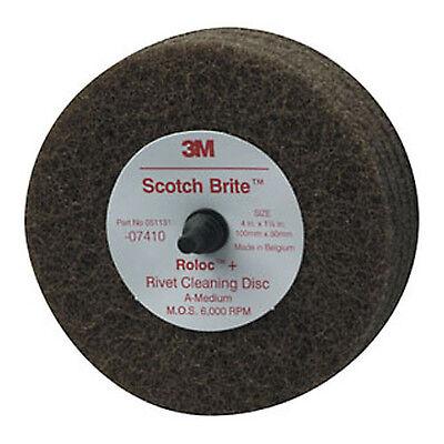 """3M 07410 Scotch-Brite Rivet Cleaning Disc, 4"""" x 1 1/4"""""""