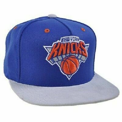 New Mitchell & Ness NBA Snapback Hat - New York Knicks Blue Corduroy Strapback