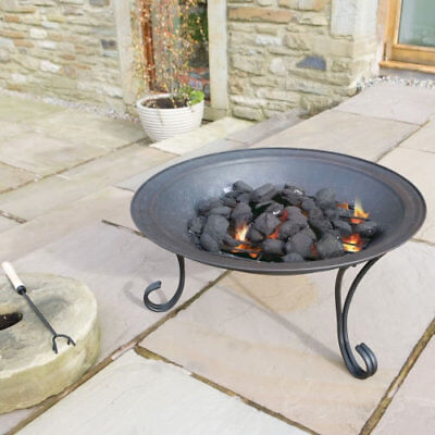 Outdoor Garden Patio Fire pit with Weather Cover Burner Heater 27