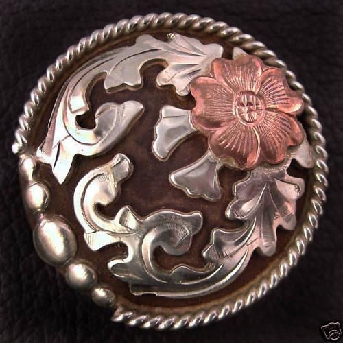 """1 1/2"""" Mortenson Concho, Tack, Bridle, Saddle Silver - Odessa"""