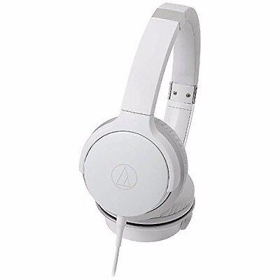 (audio technica ATH-AR3 Portable Folding On-Ear Headphones White NEW F/S)