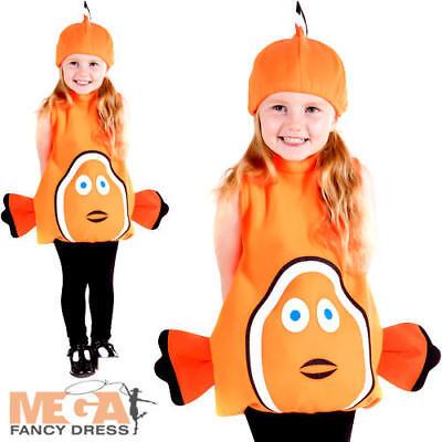 Clown Fish Kids Fancy Dress Underwater Sea Animal Boys Girls Toddlers Costume - Toddler Boy Clown Kostüm