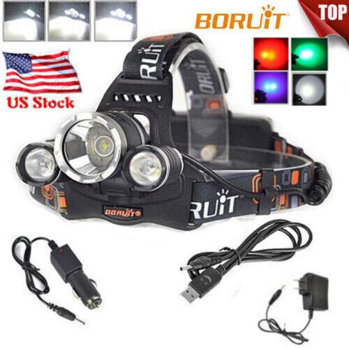 High Bright Rechargeable Headlamp Flashlight R2 LED Headlight Head Light Torch