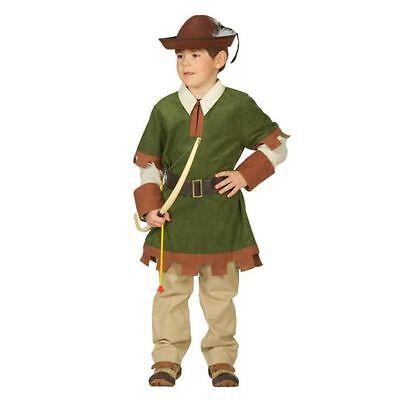 Robin Kinder Kostüme (Robin 2tlg. Gr 104 - 164 Kostüm Kinderkostüm Kinder Mittelalter Karneval)