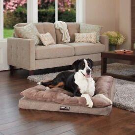 Kirkland Signature Pillow Top Ortho Napper Brown Pet Bed 102cm x 91cm PRACTICALLY NEW