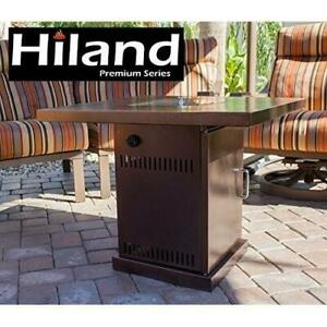 NEW* HILAND FIRE PIT GSF-PR-PC 241791352 HAMMERED BRONZE AND STAINLESS STEEL