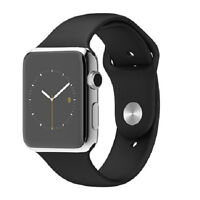 Mai - Apple Watch 42mm Stainless Steel - Black Sport Band