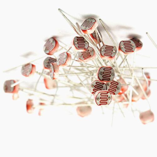 100PCS Photo Light Sensitive Resistor Photoresistor Optoresistor 5mm GL5549