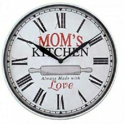 Westclox 12 Round Mom's Kitchen Always Made with Love Wall Clock USA Seller