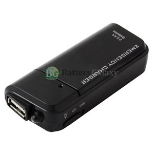 Usb Black Emergency Portable 2 Aa Battery Power Charger