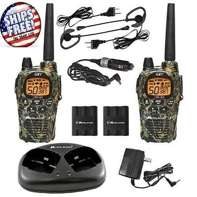 Two-way Radio Walkie Talkie Pair Camouflage 36-mile 50-channel Frsgmrs Weather