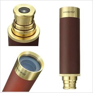 Gorgeous BrassHunting/Sports ZOOM Freebooter Telescope Brass Mon