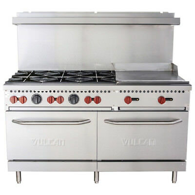 Vulcan Sx60-6b24g 60 6 Burner Natural Gas Range With 24 Griddle