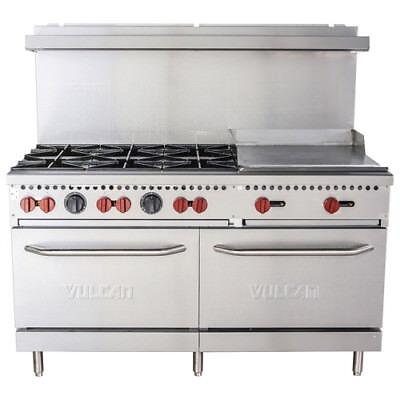 Vulcan Sx60-6b24g 60 6 Burner Natural Gas Range With 24 Griddle
