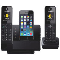 Brand New Panasonic DECT 6.0 Link2Cell 2 handsets/iphone dock