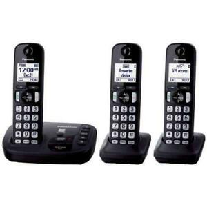 Panasonic 2 Handset Cordless Phones (KX-TG443CSK )- Open Box $39