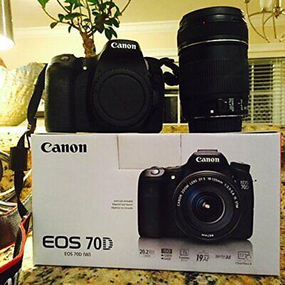 CANON 8469B002 20.2 Megapixel EOS 70D Digital SLR Camera (Body Only)