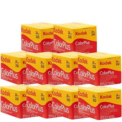 10 Rolls Kodak Color Plus 200 35mm Negative Film ColorPlus 135-24 exp. FRESH