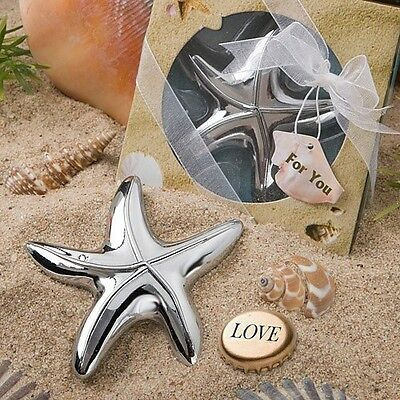 1 Starfish Bottle Opener Wedding Favors Bridal Shower Gift Beach Summer - Summer Wedding Favors