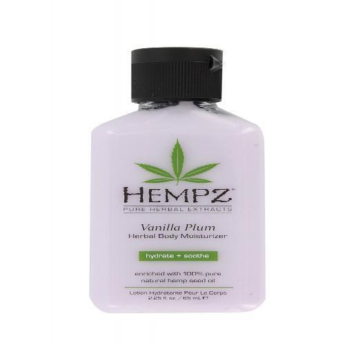 Hempz Vanilla Plum Herbal Hydrate & Soothe Skin Moisturiser Tanning Lotion- 65ml