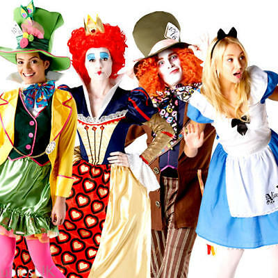 Alice In Wonderland Costumes For Men (Alice in Wonderland Official Fairytale Fancy Dress Ladies & Mens Costume)