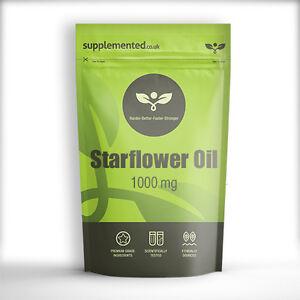STARFLOWER / BORAGE OIL CAPSULES 1000MG 180 CAPS ✔UK Made ✔Letterbox Friendly