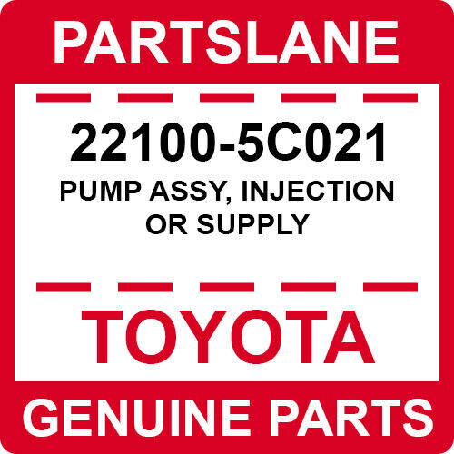 22100-5c021 Toyota Oem Genuine Pump Assy, Injection Or Supply