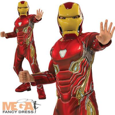 Iron Man Boys Fancy Dress Avengers Endgame Kids Comic Book Superhero Costume (Ironman Kid Kostüme)