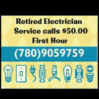 Electrician Retired $50.00 Per Hour