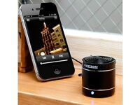 Lifetrons DrumBass LT8006 Leather Black Single Speaker For iPod,iPad,iPhone,Mac and many others