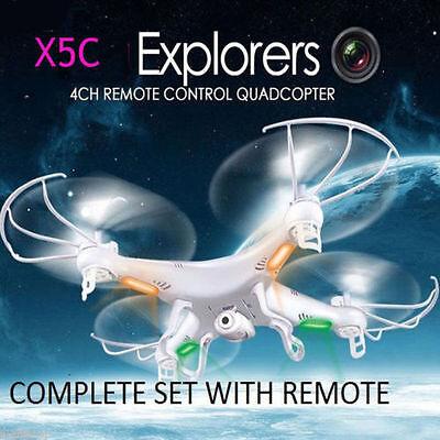NEW X5C Explorers 2.4G 4CH 6 Axis Gyro RC Quadcopter Drone HD Camera UFO USA @