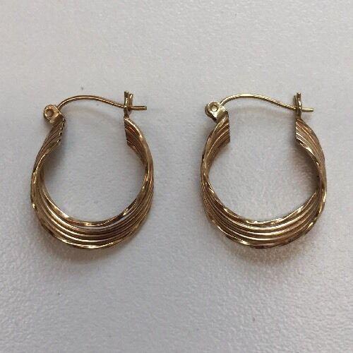 10 Karat Yellow Gold Earrings 1.22 Grams